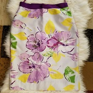 Kate Spade New York Floral Pencil Skirt Size 4